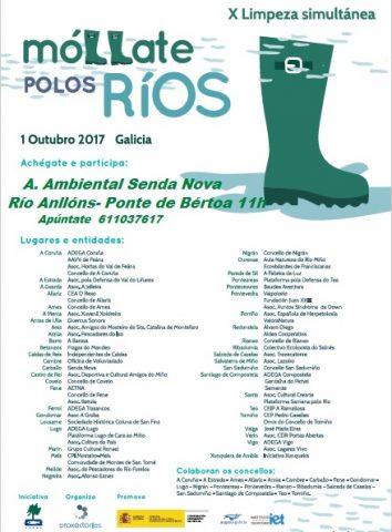 cartel limpeza de rios 2017
