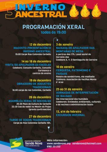 III Inverno Ancestral (programa xeral)