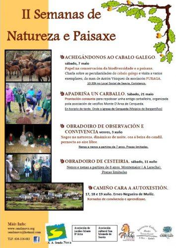 Cartaz das II Semanas de Natureza e Paisaxe