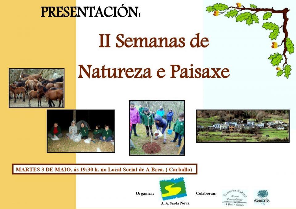 Presentación das II Semanas de Natureza e Paisaxe