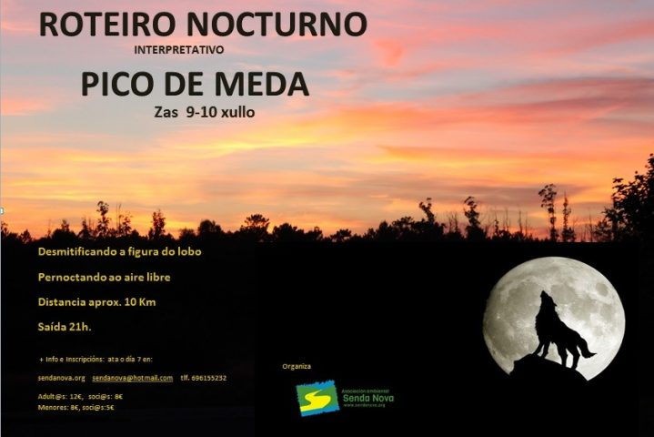 Roteiro nocturno Pico de Meda 2016